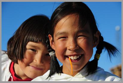 Photo of Greenlandic kids
