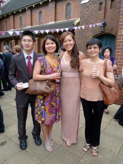Happy at a wedding