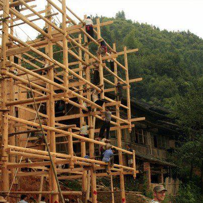 Real community building: a wooden house without nails
