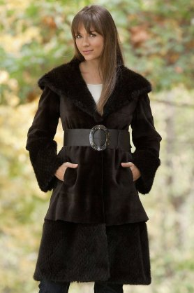 Danish mink fur coat, one of the better looking ones. Source: Amazon