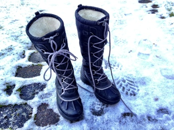 Boots that are waterproof are useful. There's fur inside these ones, but that can get too hot in warmer climates