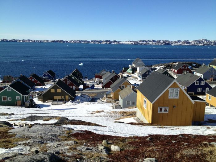 Clusters of houses form a part of Nuuk