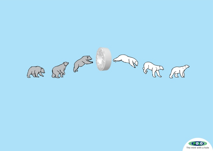 Polar bear Polo mint, by JWT Dubai