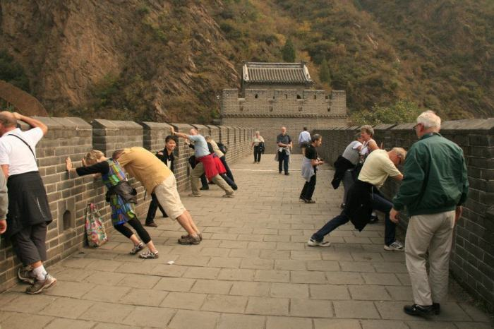 A romantic reunion with 15 other people. Great Wall, China