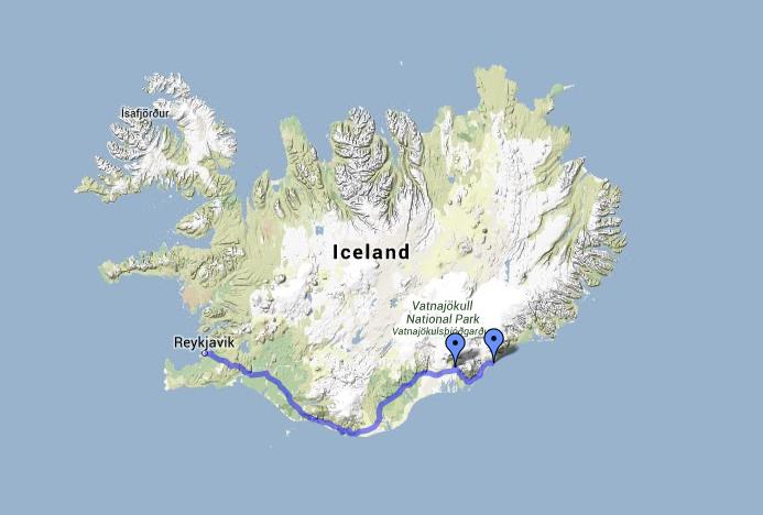 Arctic adventures: Vatnajökull Voyager map