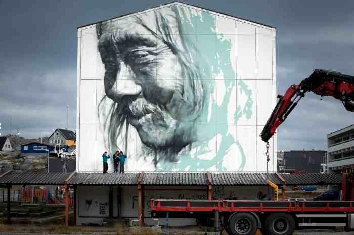 Street art Nuuk - guido van helten