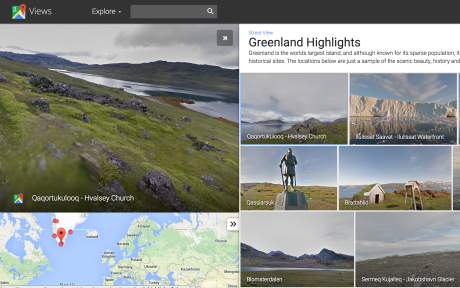 Google street view Greenland highlights fourth continent