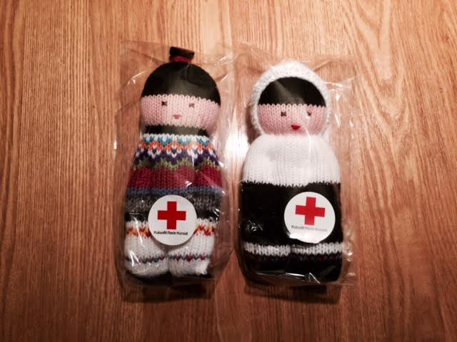 red cross greenlandic dolls